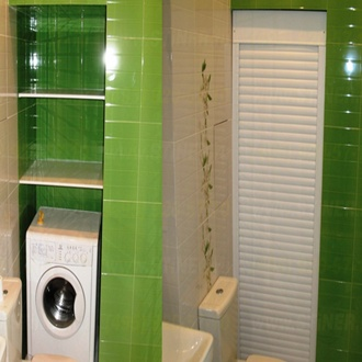 Фото Применение сантехнических рольставней в туалете и ванной