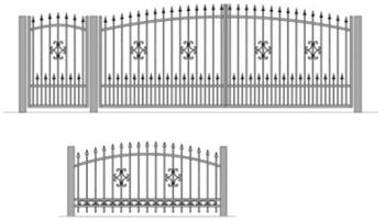 , Виды кованых ворот