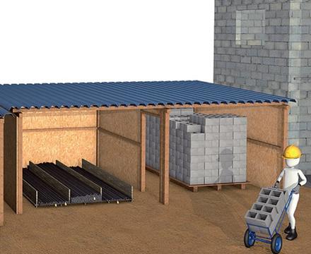 хранение материалов на стройплощадке